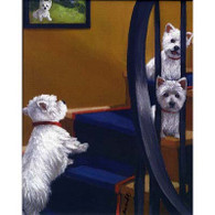 Westie on Stairs Note Cards