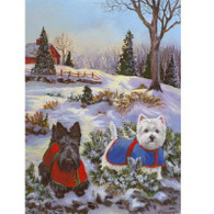Scottie & Westie Garden Flag