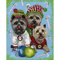 Cairn Terrier Elves Christmas Cards
