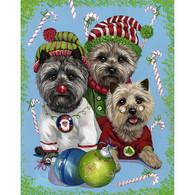 Cairn Terrier Elves Christmas Cards