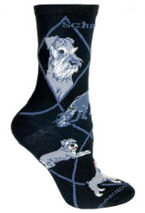 Miniature Schnauzer Socks Black