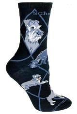 Miniature Schnauzer Socks Black