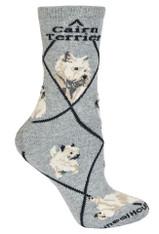Cairn Terrier Socks grey