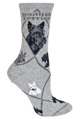 Scottie Scottish Terrier Socks Grey