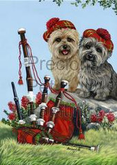 Cairn Terrier Piper Garden Flag