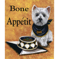 Westie Bone Appetit Garden Flag