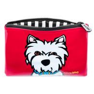 Westie cosmetic bag