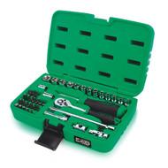 "Toptul GCAI4102  Professional Grade 1/4"" DR. Flank Socket Set 41pcs"