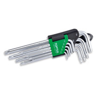Toptul GAAL0919 Long Type Star Tamperproof Key Wrench Set 9pcs