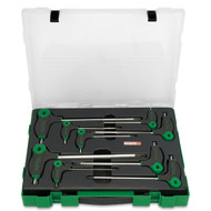 Toptul GZC0904 L-Type Two Way Star and Tamperproof Key Wrench Set 9pcs