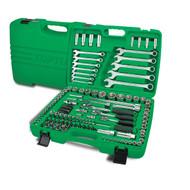 "Toptul GCAI130B Professional Grade 1/4"", 3/8"" & 1/2"" DR. 6PT Flank Socket Wrench Set 130pcs"