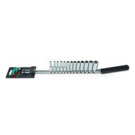 """Toptul GAAQ1309 1/4"""" DR. 6PT Deep Socket Rail Set 13pcs"""