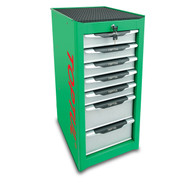 Toptul TBAI0701 7-Drawer Side Cabinet Green