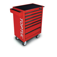 Toptul TCAA0702 General Series 7-Drawer Mobile Tool Trolley Red