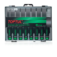 Toptul GAAW0803 Precision Screwdriver Set (Slotted, Phillips and Star Type) 8pcs