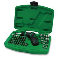 Toptul GAAI5401 High-Torque Pistol Grip Ratchet Screwdriver, Bit and Socket Set 54pcs