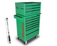 Toptul GT-28306-1 10 Drawer 283 Pcs Metric Tool Kit General Green