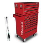 Toptul GT-28305-1 10 Drawer 283 Pcs Metric Tool Kit General Red