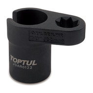 "Toptul JDAR0122 1/2"" DR. Heated Oxygen Sensor Socket 22mm"