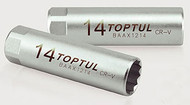 """Toptul BAAX1214 Spark Plug Socket 3/8"""" (Leaf Spring) 14mm"""