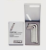 Toptul GAAD0501 Spline Key Wrench Set 5pcs