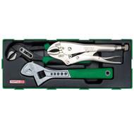 Toptul GTA0315 (A) Adjustable Wrench & Pilers Set 3pcs