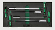 Toptul GVA0410 (A) Nut Driver T-Handle Set 4pcs