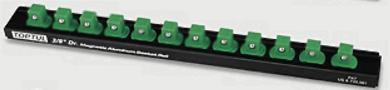 """Toptul PBKB3B2612 Magnetic Socket Rail 3/8"""" (12 Holders)"""