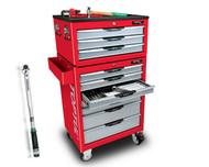 Toptul 372pcs Tool Kit 10 Drawer Metric/AF -TTPRO372RED