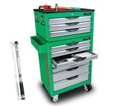 Toptul 372pcs Tool Kit 10 Drawer Metric/AF -TTPRO372GREEN