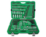 "Toptul GCAI216R 1/4"", 3/8"" & 1/2"" DR. Flank Socket Wrench Set 216PCS"