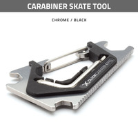 Carabiner Skate Tool - Chrome / Black