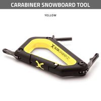 Carabiner Snowboard Tool - Yellow