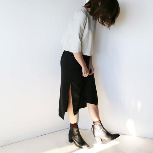 Black Channy Skirt
