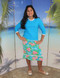 style 2619 girls two piece swim set in turquoise island