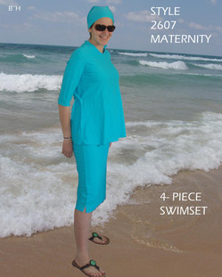 Aqua Modesta Style 2606- Ladies modest Maternity four Piece Swim Set
