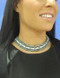 AM style 1807 hand made woven choker designed with Swarovski crystals
