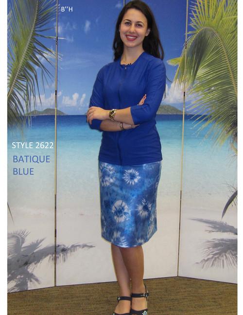 style 2622 skirt in batique blue