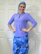 Ladies hair covering style A in Lilac Floral to match styles 2614 in lilac and style 2630 Lilac Floral