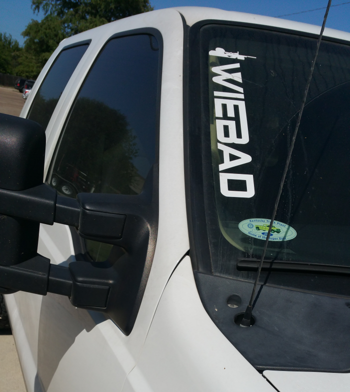 WieBad Window Decal 18""