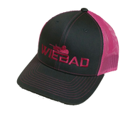 WieBad Logo  Richardson Cap (Charcoal and Neon Pink)