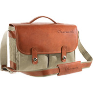 Oberwerth Munchen Large Camera Bag - Cordura/Leather - Beige/Light Brown