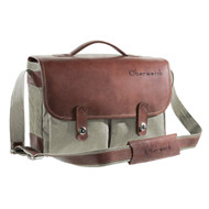 Oberwerth Munchen Large Camera Bag - Cordura/Leather - Olive/dark Brown