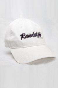 Randolph White Script Cap