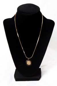 Randolph College Gold Plated Seal Pendant Necklace