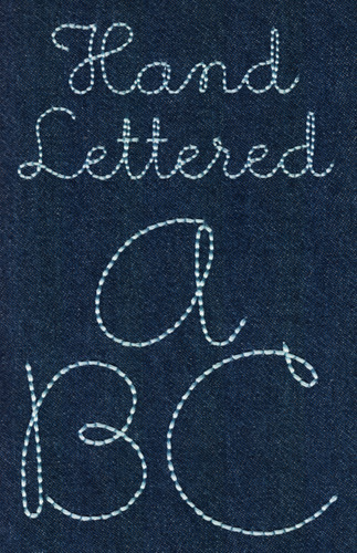 231 hand lettered floss stitch font