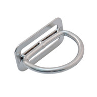 90 Degree Billy Ring | Stainless Steel D-Ring | Scuba Diving Hardware