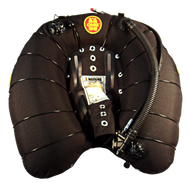 OMS Deep Ocean Wing Single Bladder with Retraction Bands 94 lb Lift - Black