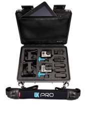 UK Pro POV40 GoPro Multi-Camera Hard Case - Black w/Shoulder Strap