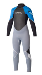Xcel Surf Xplorer 4/3mm Fullsuit - Alloy/Black/Electric Blue/White